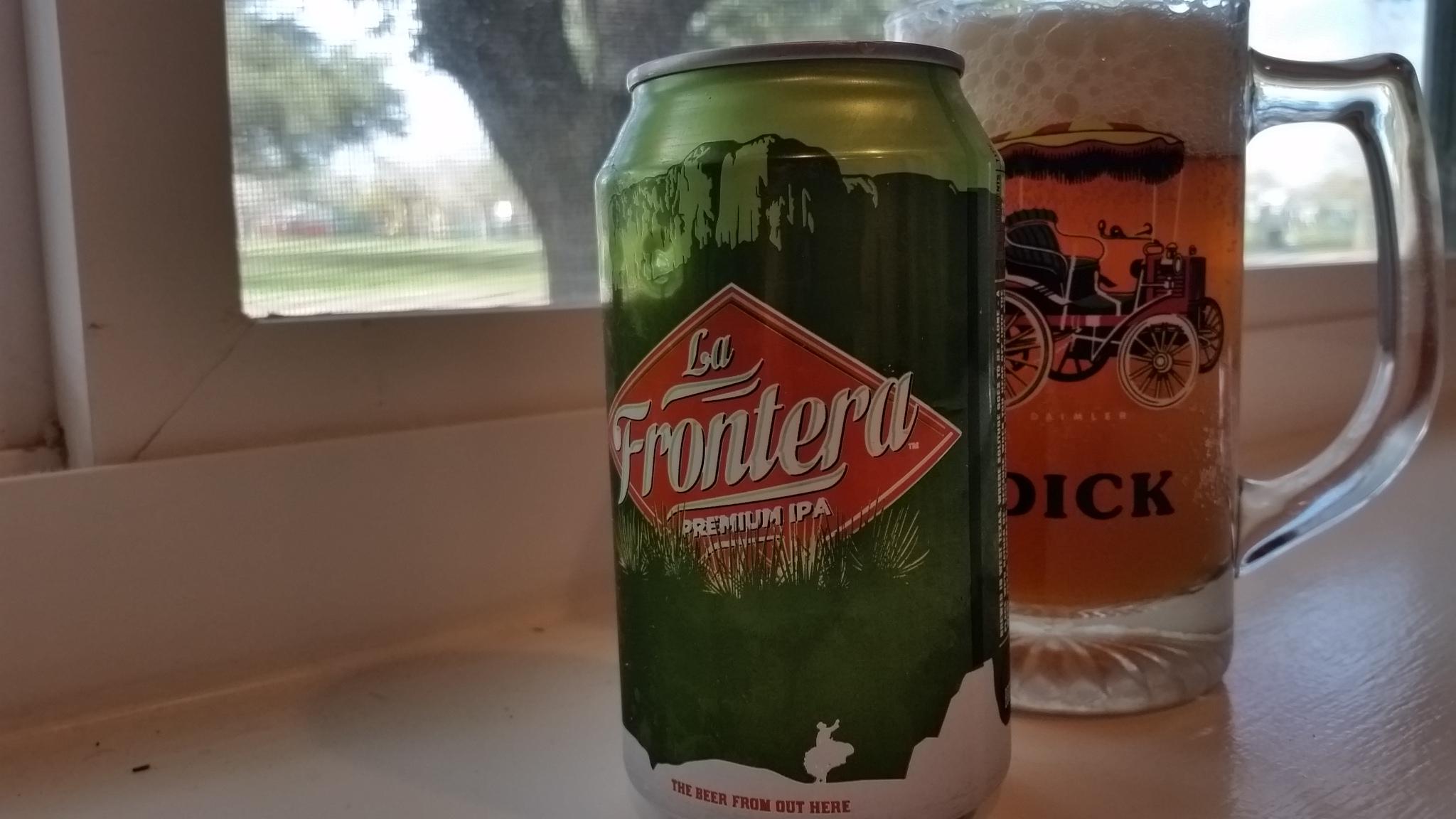 Big Bend Brewing's La Frontera. A fantastic premium IPA.
